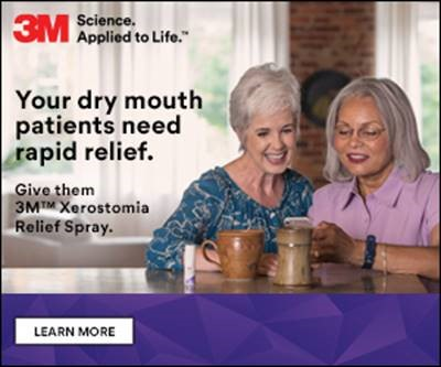 3M Science Applied to Life Xerostomia Relief Spray ad to learn more